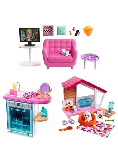 Barbie Barbienin Ev İçi Dekorasyon Aksesuarlari Fxg33 Renkli